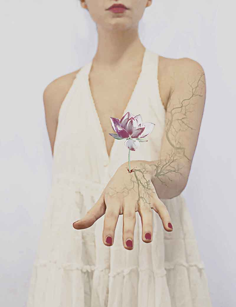 The photo was taken by the italian photographer Erika Zolli. In her photo she creates surreal and creative compositions