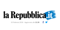 logo of the online magazine La Repubblica with the article about surreal photographer erika zolli