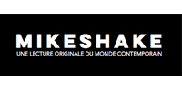 logo od the online magazine Mikeshake with the article about surreal photographer erika zolli